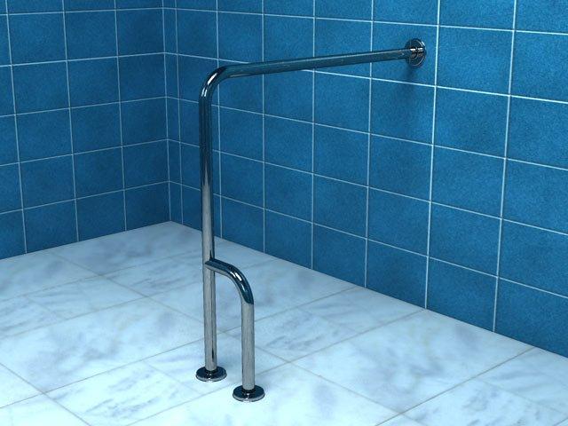 Poręcz Dla Niepełnosprawnych ściana Podłoga Lewa 7580cm Psp
